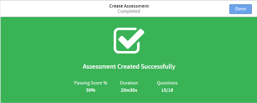 pedagoo completed assessment