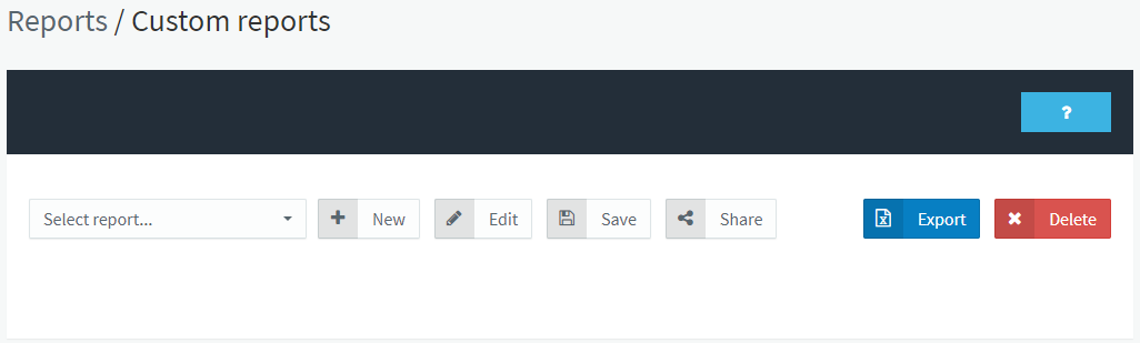 How to create a Custom reports