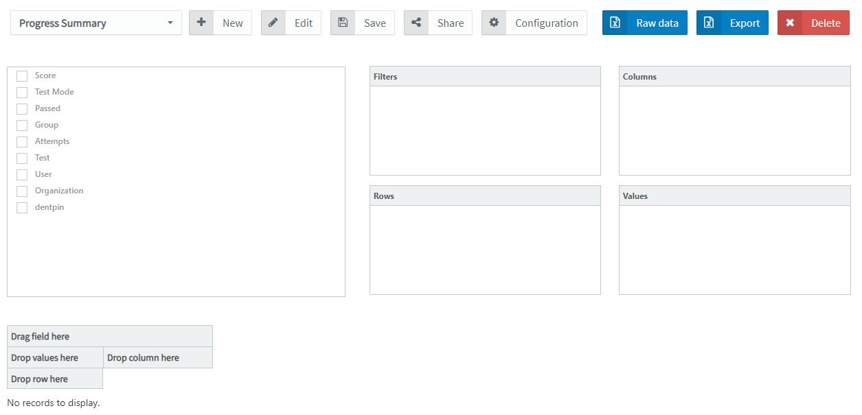 pedagoo customize your report